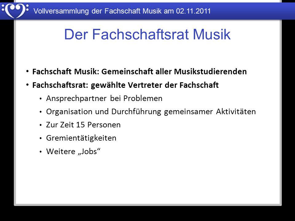 Der Fachschaftsrat Musik
