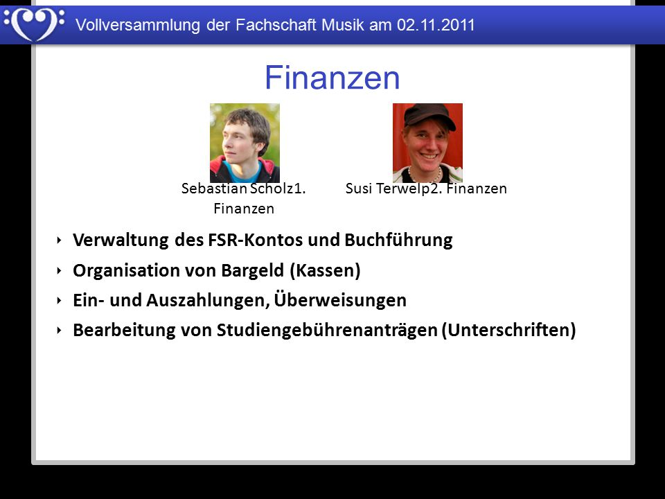 Sebastian Scholz1. Finanzen