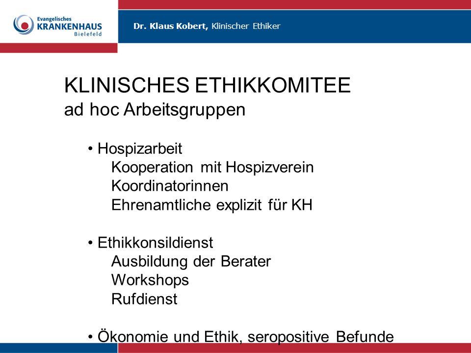 KLINISCHES ETHIKKOMITEE