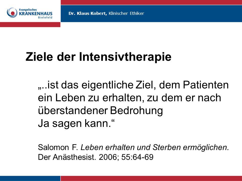 Ziele der Intensivtherapie