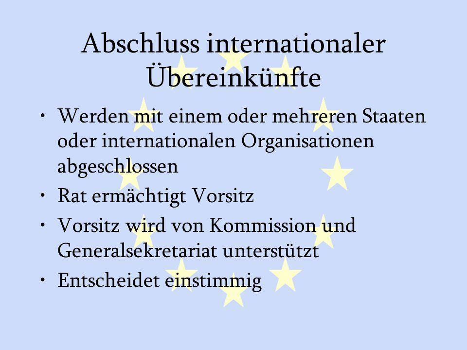 Abschluss internationaler Übereinkünfte
