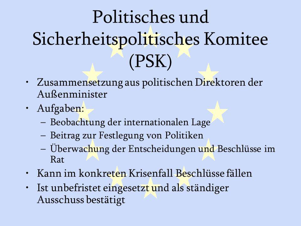 Politisches und Sicherheitspolitisches Komitee (PSK)