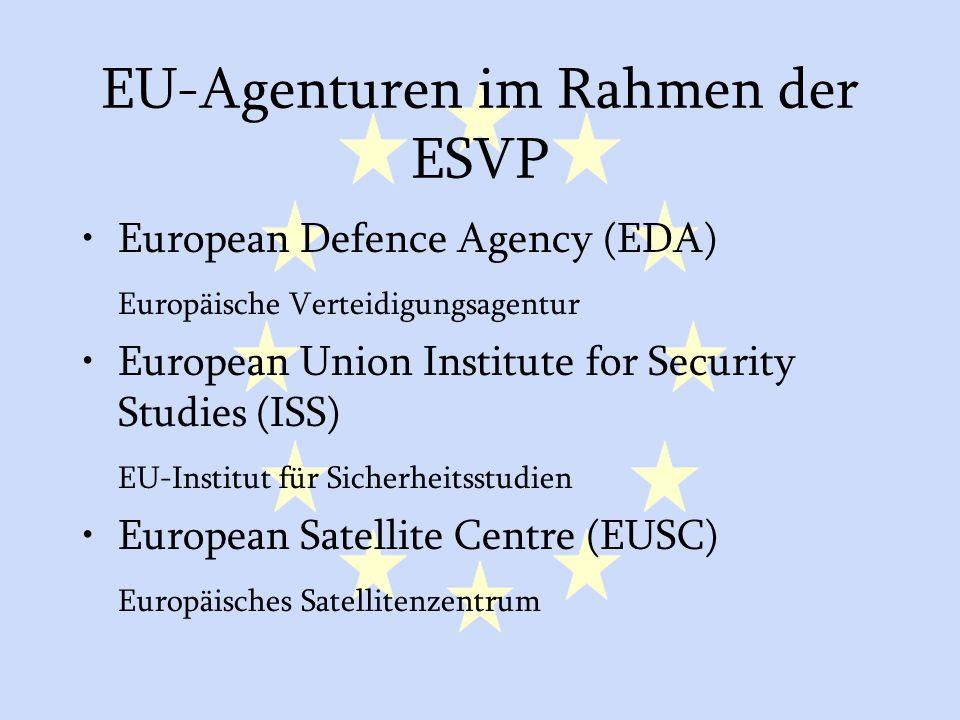 EU-Agenturen im Rahmen der ESVP