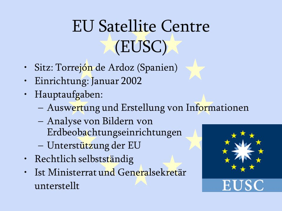 EU Satellite Centre (EUSC)