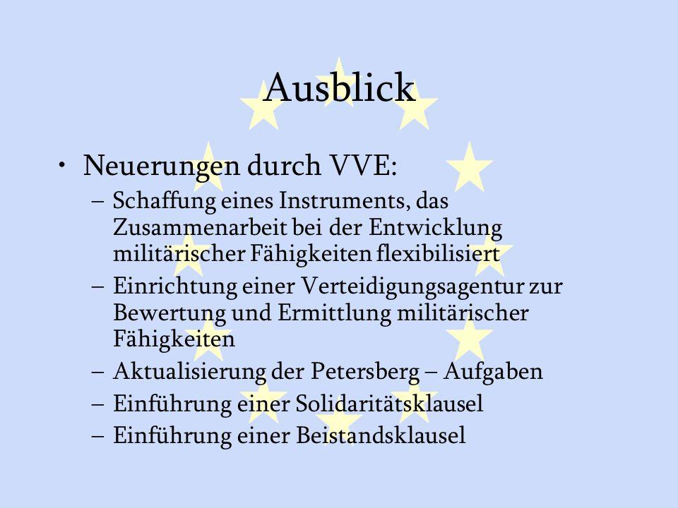 Ausblick Neuerungen durch VVE: