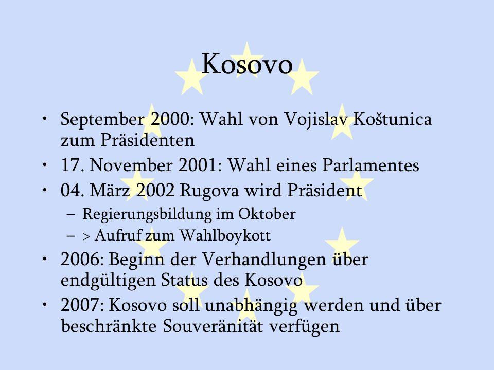 Kosovo September 2000: Wahl von Vojislav Koštunica zum Präsidenten