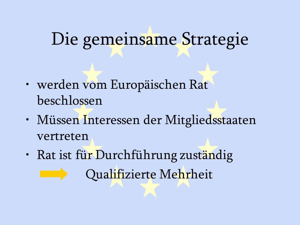 Die gemeinsame Strategie