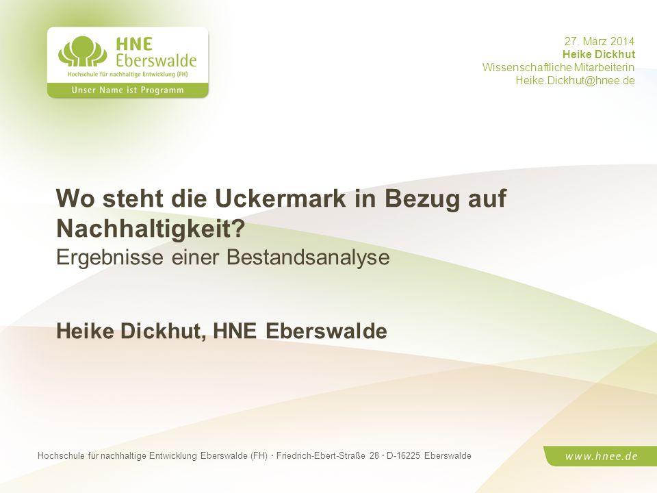 Heike Dickhut, HNE Eberswalde