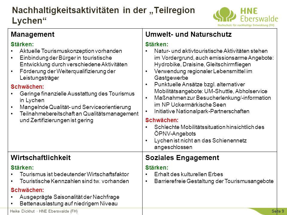 """Nachhaltigkeitsaktivitäten in der """"Teilregion Lychen"""