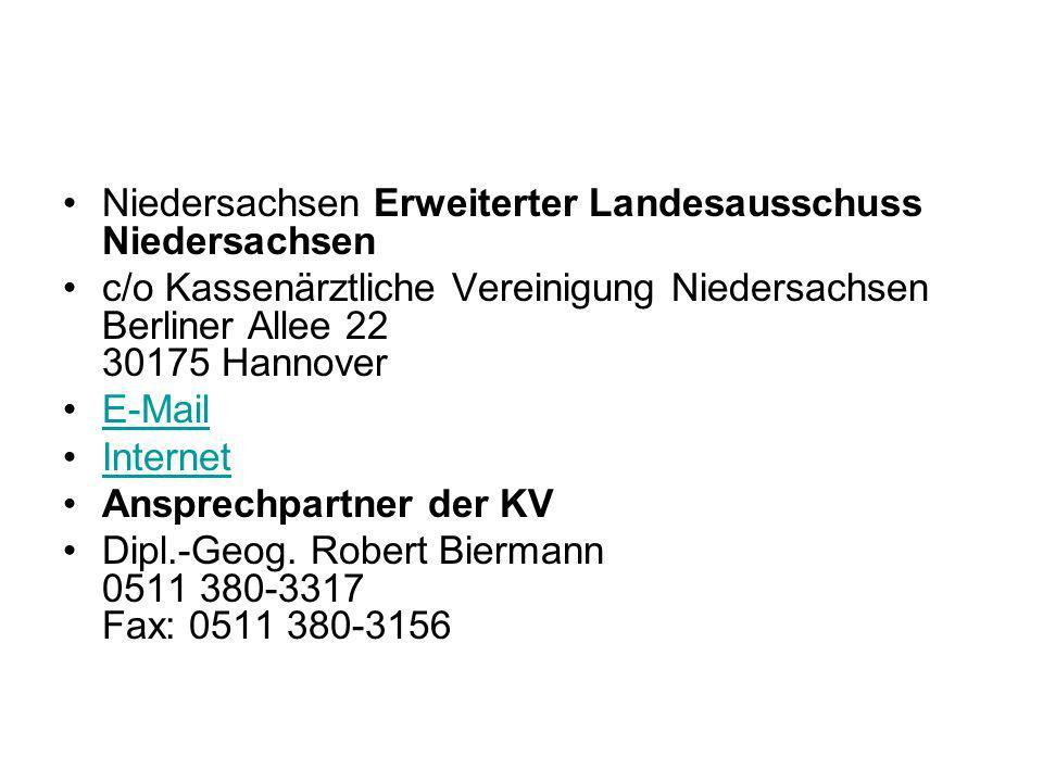 Niedersachsen Erweiterter Landesausschuss Niedersachsen
