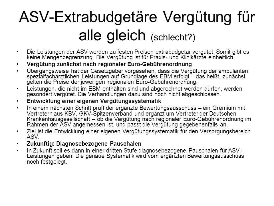 ASV-Extrabudgetäre Vergütung für alle gleich (schlecht )