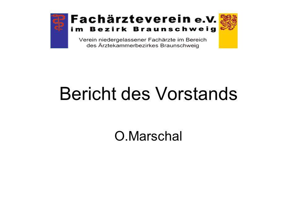 Bericht des Vorstands O.Marschal
