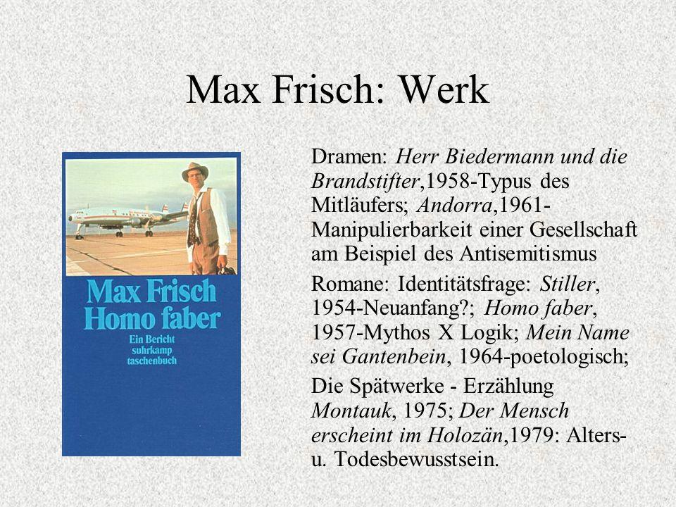 Max Frisch: Werk