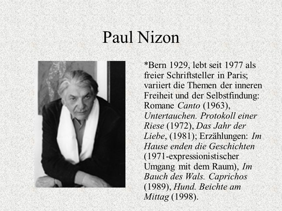Paul Nizon