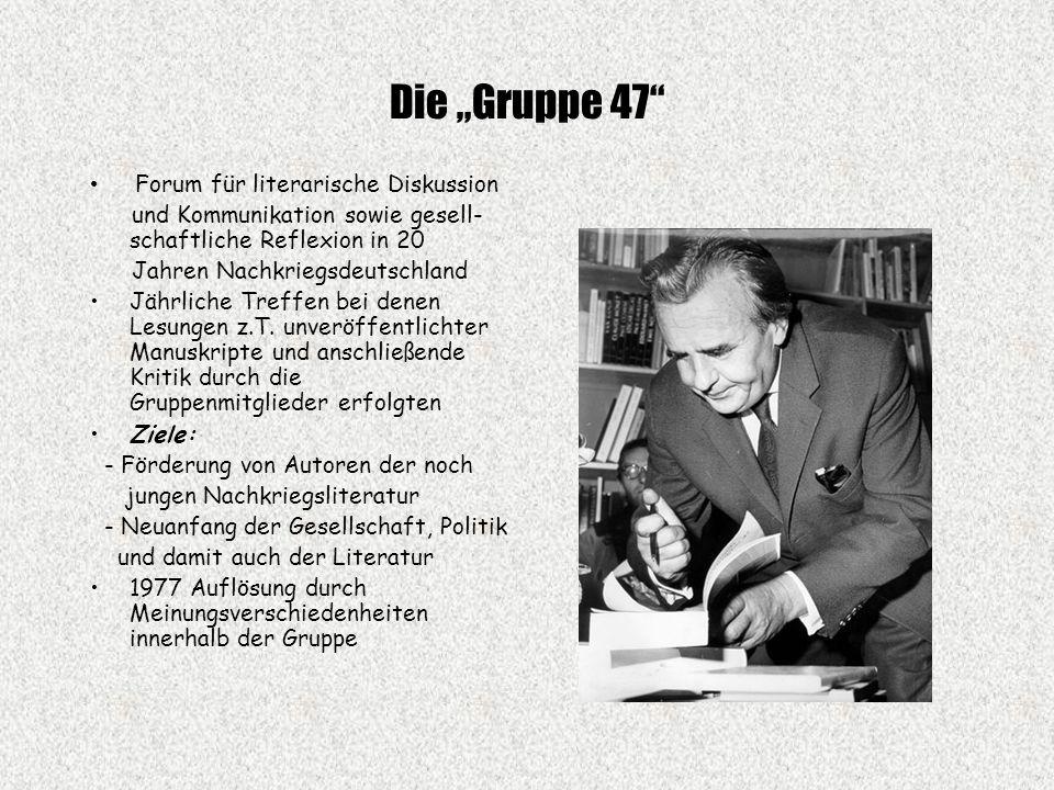 """Die """"Gruppe 47 Forum für literarische Diskussion"""