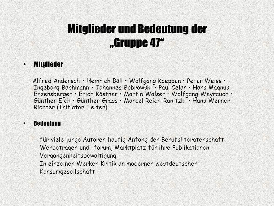 """Mitglieder und Bedeutung der """"Gruppe 47"""
