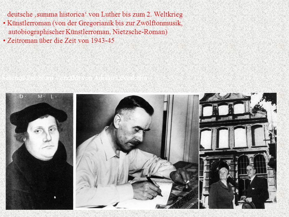 deutsche 'summa historica' von Luther bis zum 2. Weltkrieg