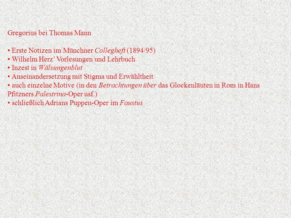 Gregorius bei Thomas Mann