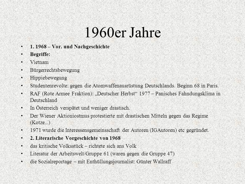 1960er Jahre 1. 1968 – Vor. und Nachgeschichte Begriffe: Vietnam