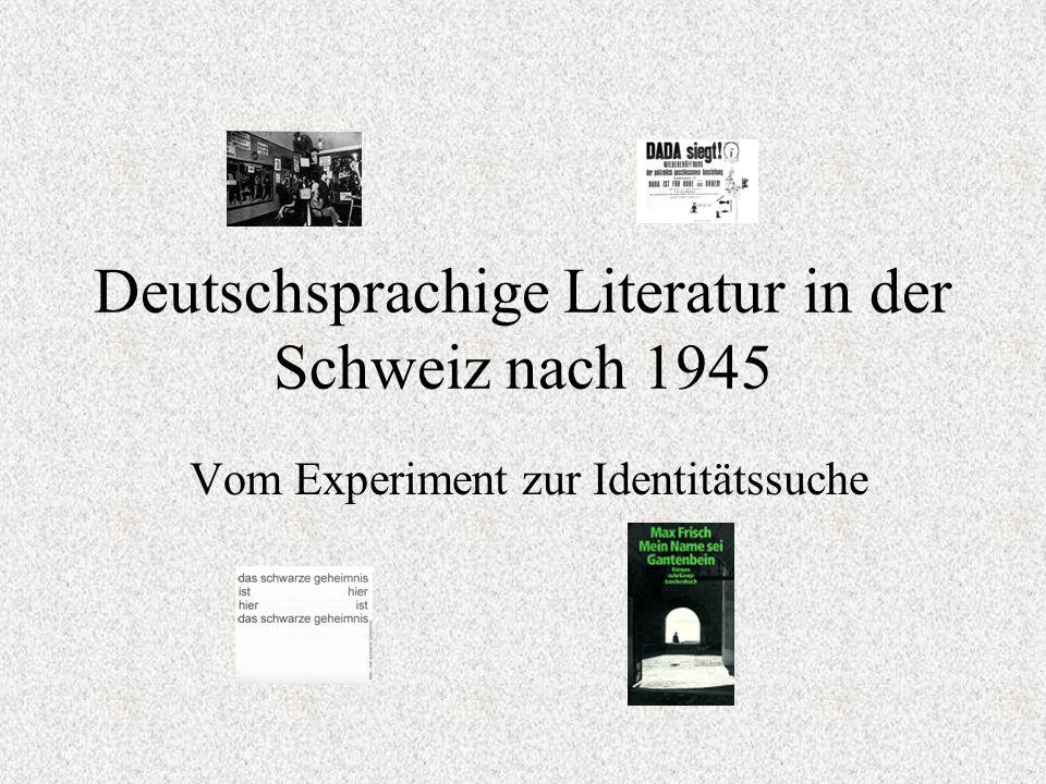 Deutschsprachige Literatur in der Schweiz nach 1945