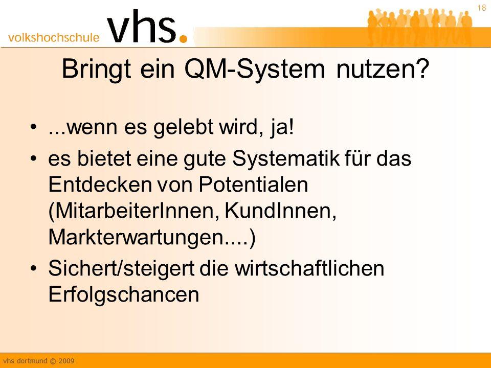 Bringt ein QM-System nutzen