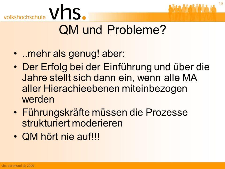 QM und Probleme ..mehr als genug! aber: