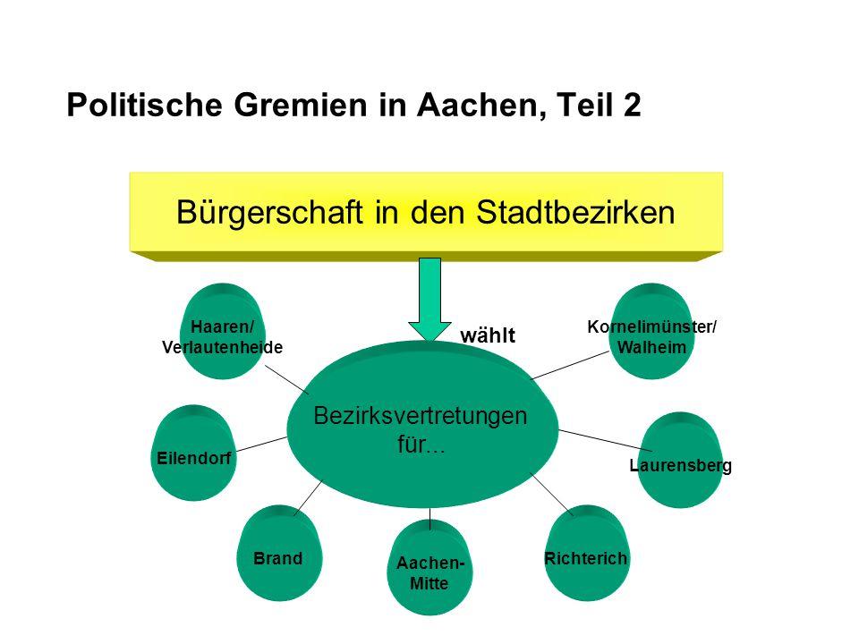Politische Gremien in Aachen, Teil 2