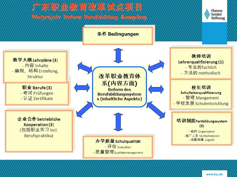 广东职业教育改革试点项目 改革职业教育体系(内容方面)
