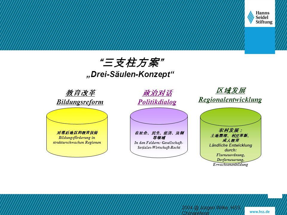 """三支柱方案 """"Drei-Säulen-Konzept 区域发展 Regionalentwicklung 教育改革"""