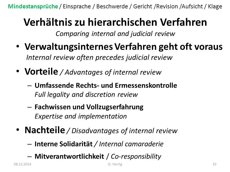 Mindestansprüche / Einsprache / Beschwerde / Gericht /Revision /Aufsicht / Klage