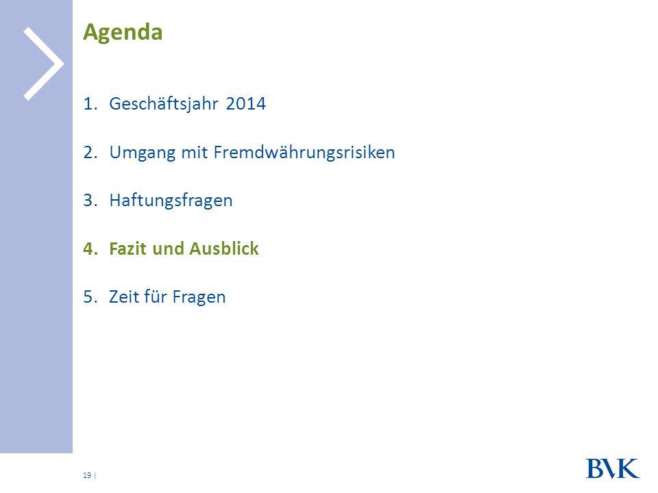 Agenda Geschäftsjahr 2014 Umgang mit Fremdwährungsrisiken