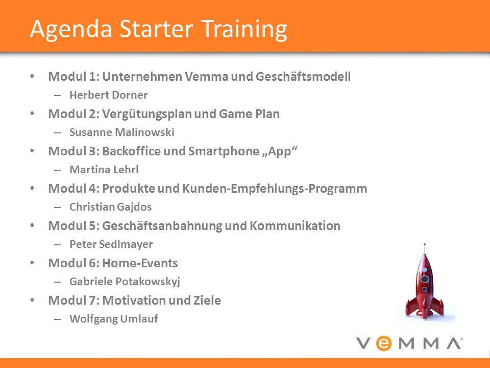 Agenda Starter Training