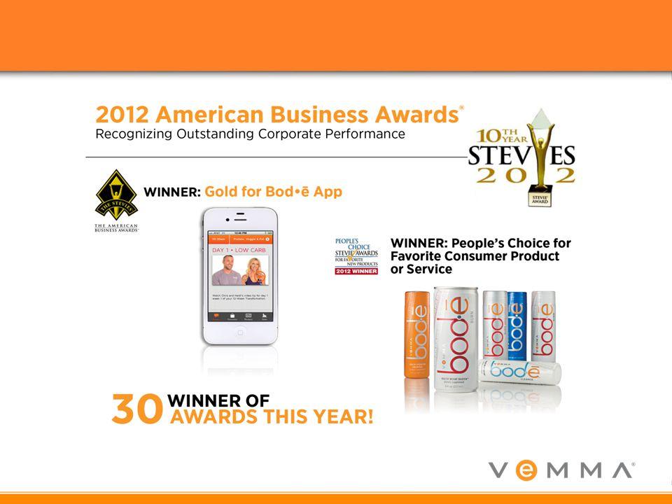 2012 war ein sehr intensives Jahr und in diesem Jahr hat Vemma 30 Awards in unterschiedlichsten Kategorien erhalten!