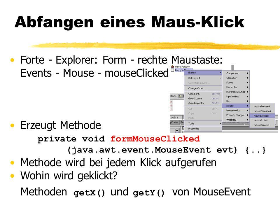 Abfangen eines Maus-Klick
