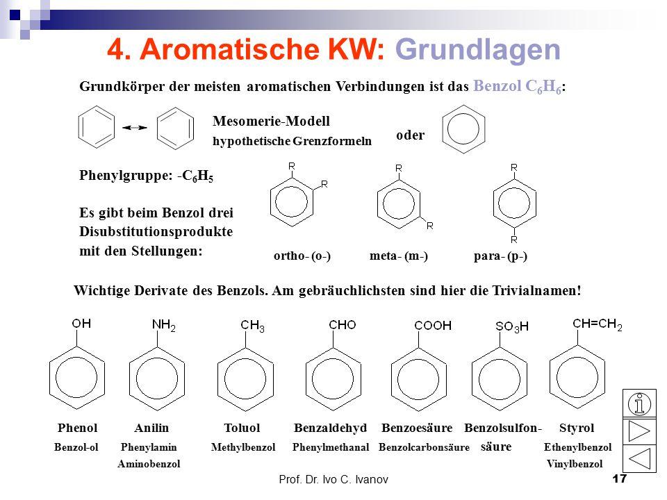 4. Aromatische KW: Grundlagen