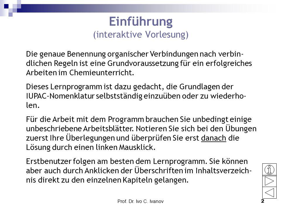 Einführung (interaktive Vorlesung)