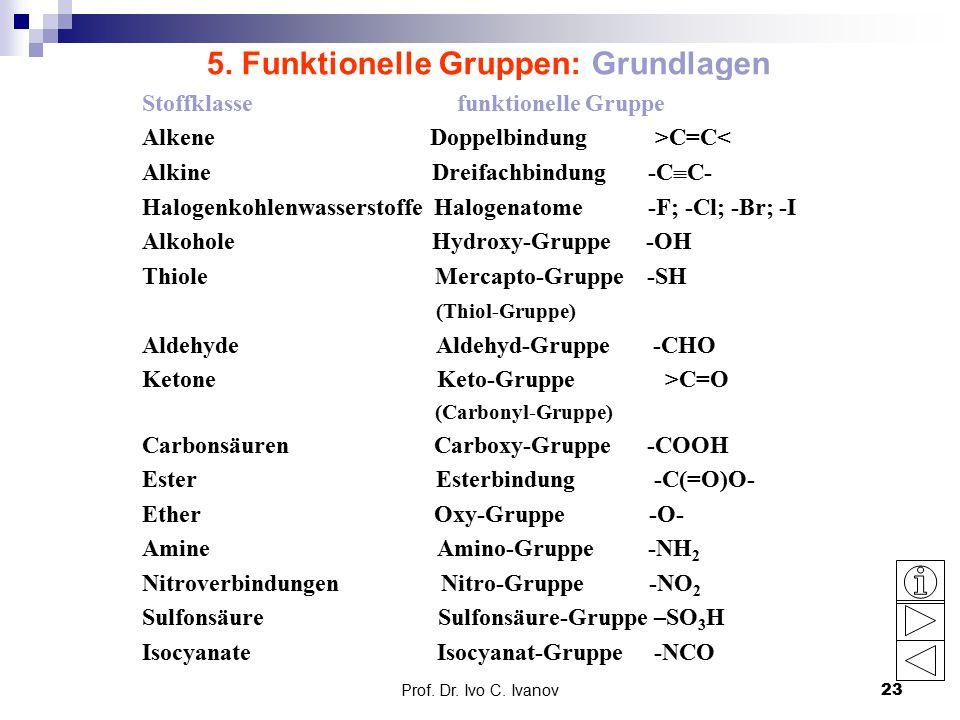 5. Funktionelle Gruppen: Grundlagen