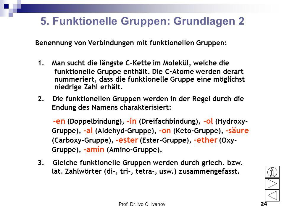 5. Funktionelle Gruppen: Grundlagen 2