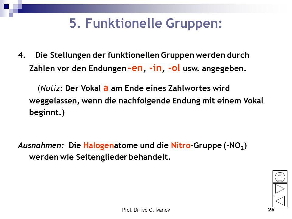 5. Funktionelle Gruppen: