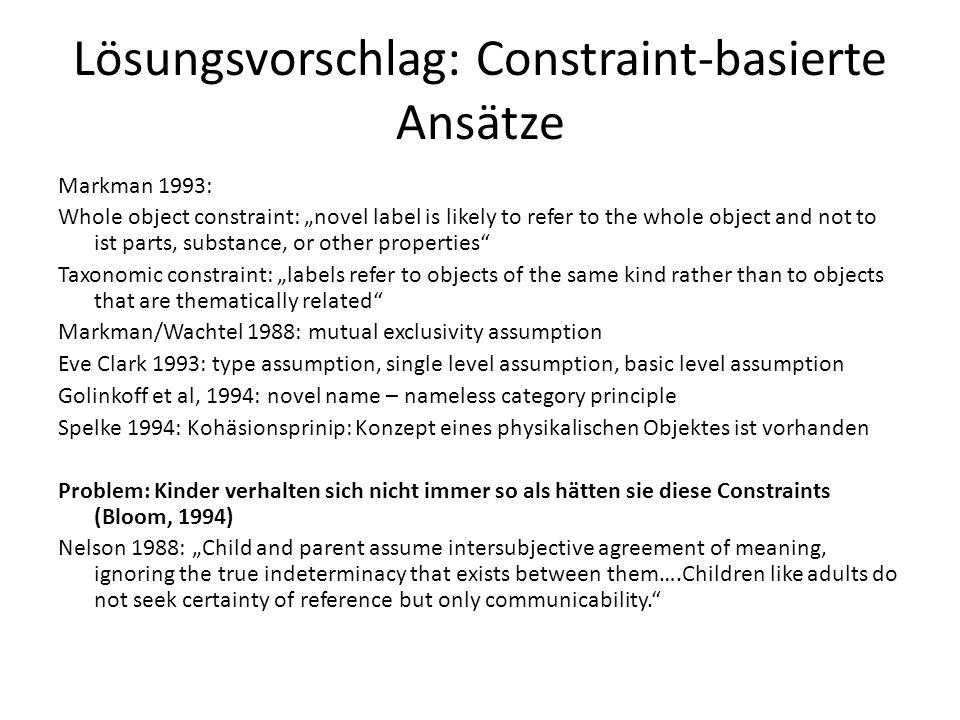 Lösungsvorschlag: Constraint-basierte Ansätze