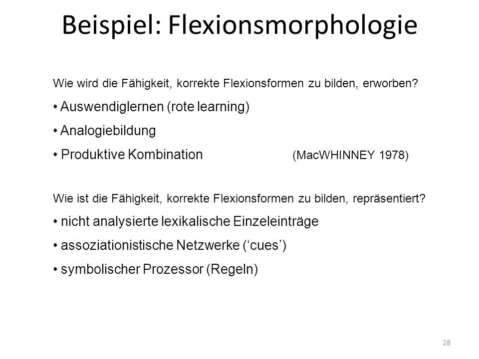 Beispiel: Flexionsmorphologie