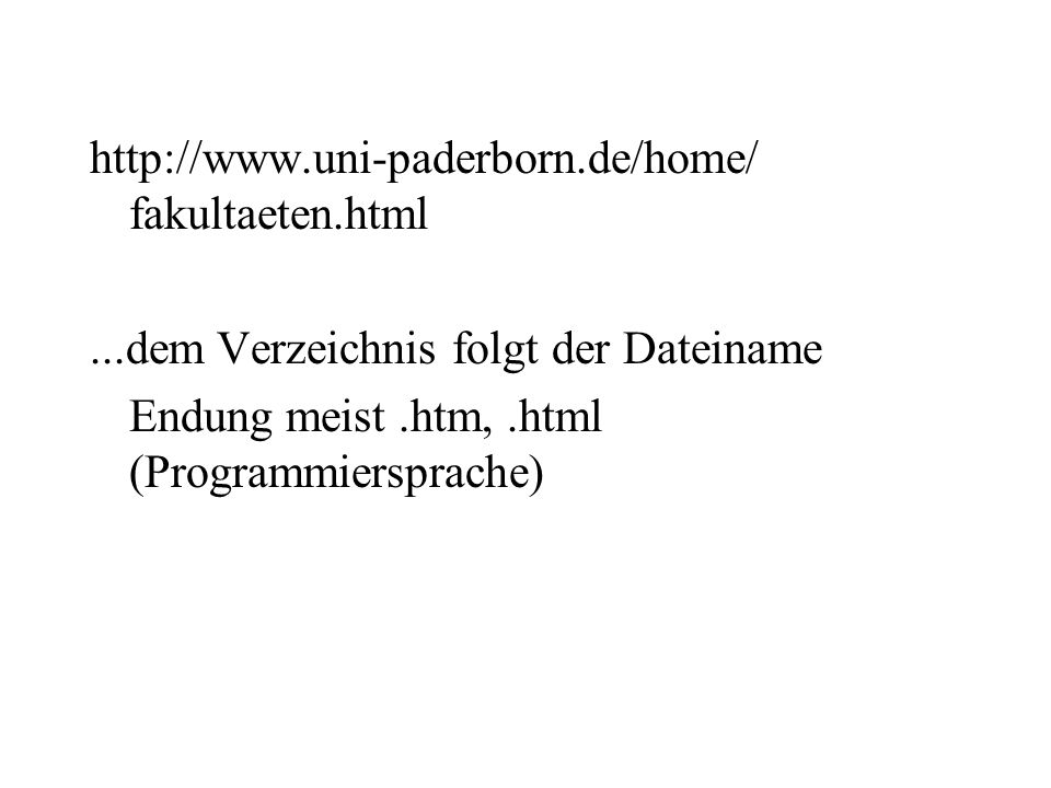 http://www.uni-paderborn.de/home/ fakultaeten.html