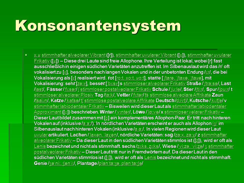 Konsonantensystem