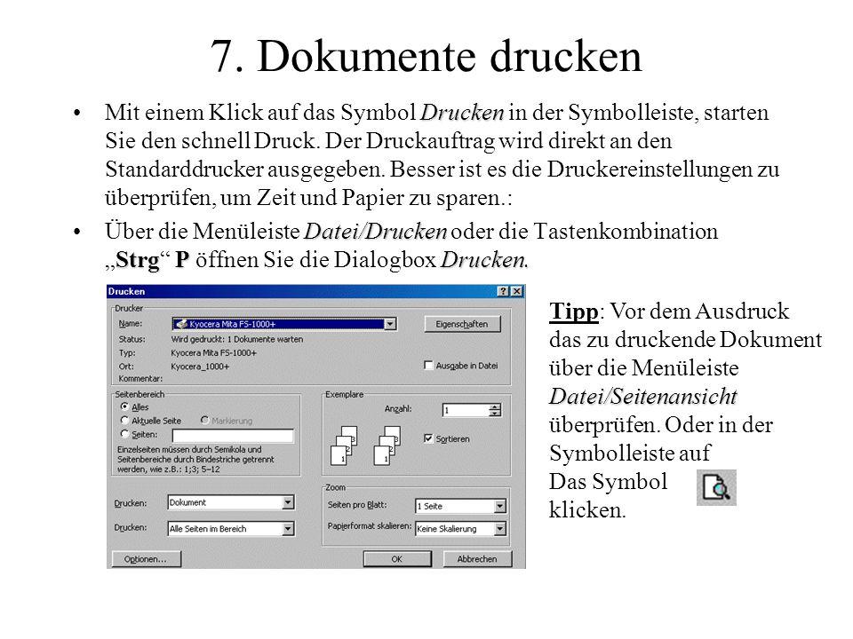 7. Dokumente drucken