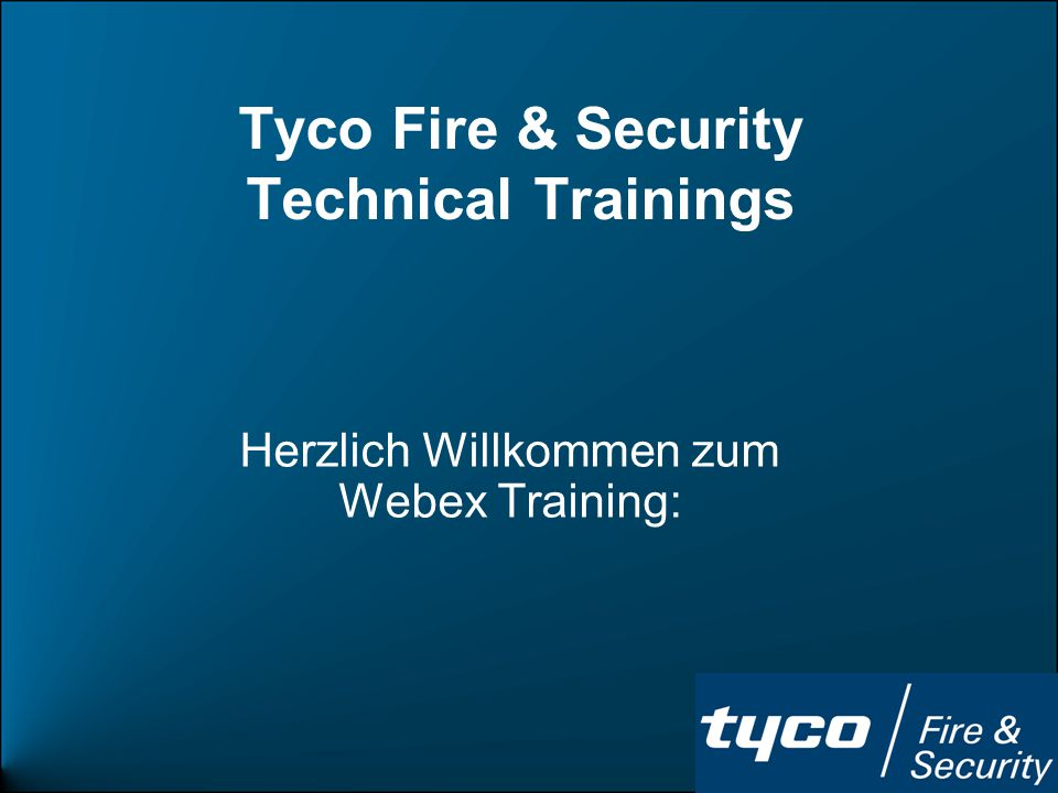 Tyco Fire & Security Technical Trainings