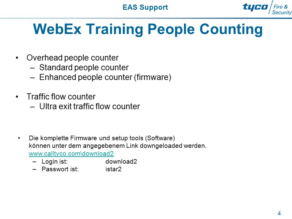 WebEx Training People Counting