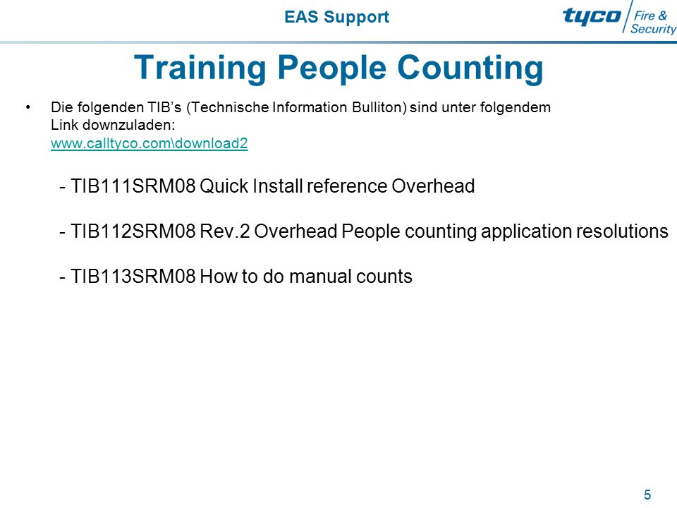 Training People Counting