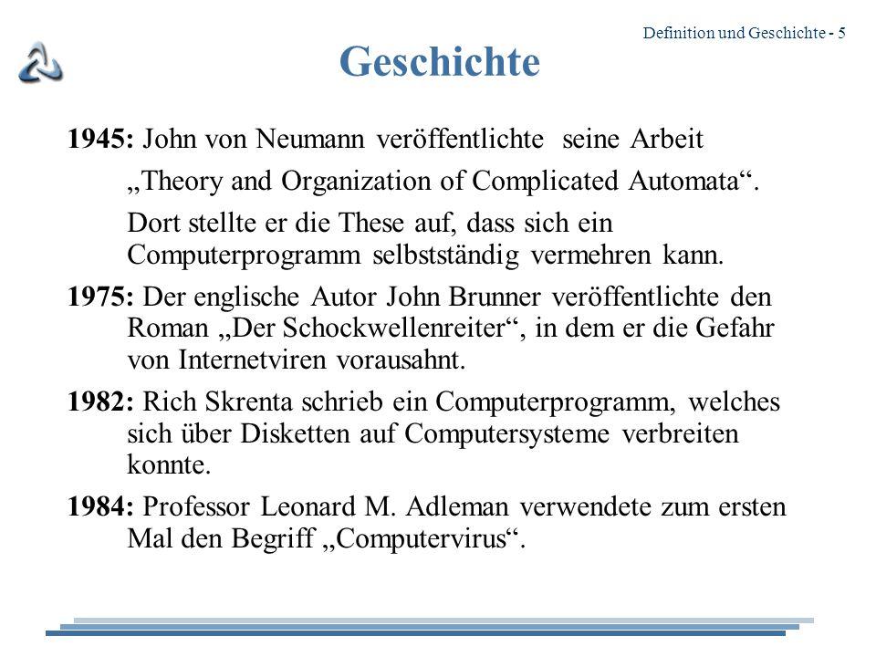 Geschichte 1945: John von Neumann veröffentlichte seine Arbeit