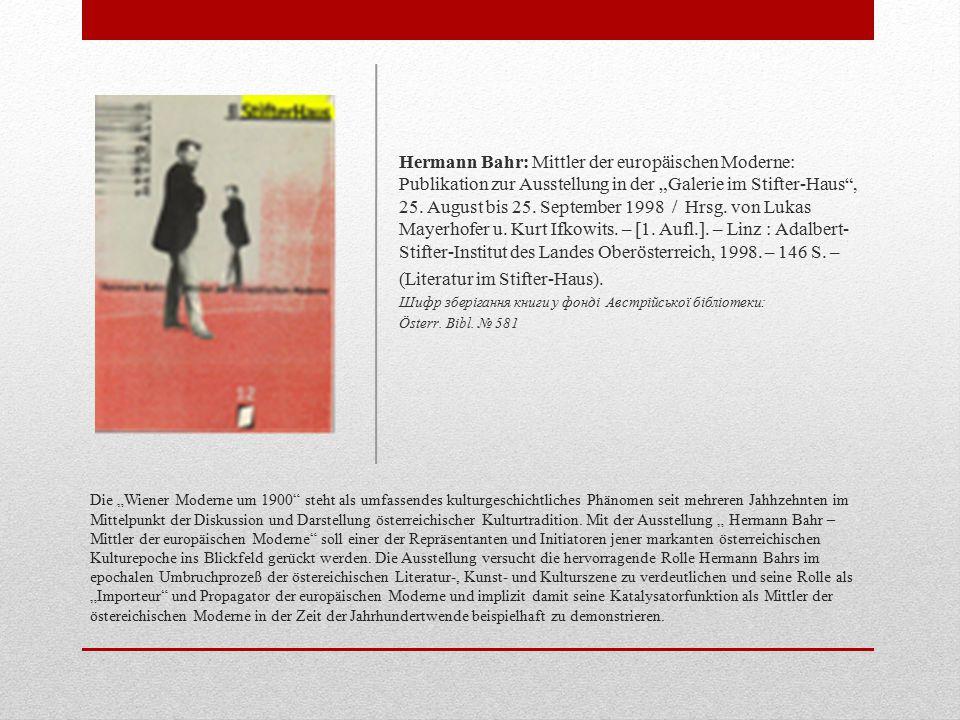 (Literatur im Stifter-Haus).