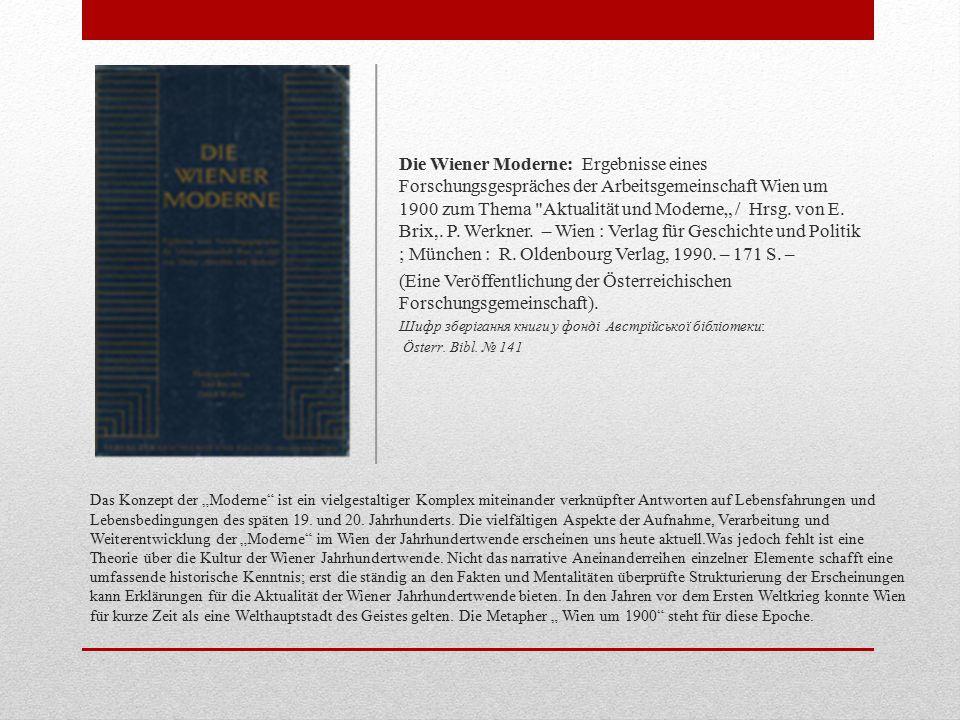 (Eine Veröffentlichung der Österreichischen Forschungsgemeinschaft).